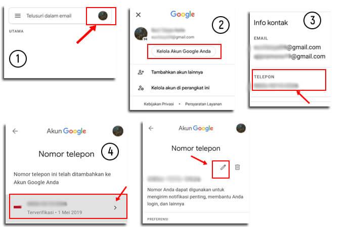 Cara Mengganti No Hp Di Gmail Untuk Verifikasi Pergibaca