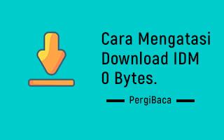cara mengatasi download idm 0 bytes